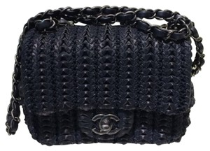 Chanel Crochet Flap Lambskin Cross Body Bag