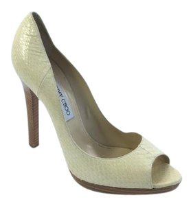 Jimmy Choo Snakeskin Ivory Sandals
