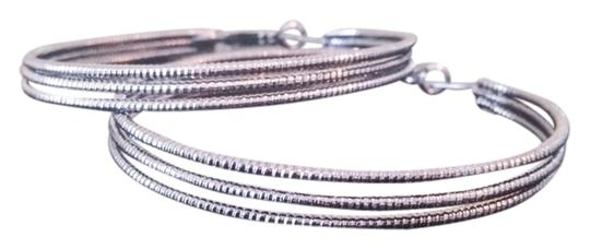 Cache Cache Burnished Silver Hoop Earrings