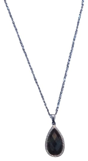 Lucien Piccard Black onyx, diamonds and sterling silver pendant
