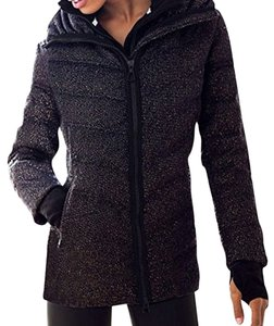 Victoria's Secret Ski Warm Metallic Sparkly Coat