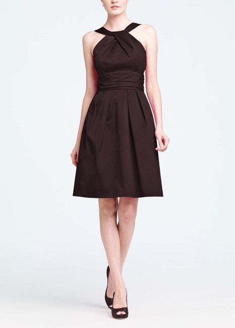 Item - Brown Cotton 83690 Traditional Bridesmaid/Mob Dress Size 8 (M)