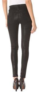 James Jeans Skinny Coated Twiggy Fitted Skinny Pants Black