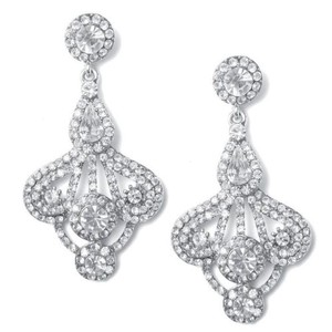 Art Deco Crystal Fan Earrings