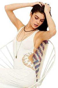 White Maxi Dress by Urban Outfitters Maxi Sundress Bodycon Summer Spring Soft