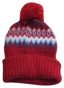 Topshop Red print Beanie hat