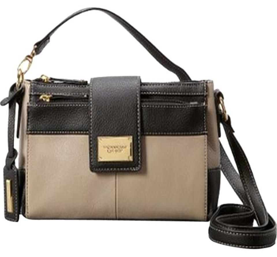 Tignanello Crossbody Beige Black Messenger Bag
