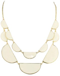 Kate Spade Kate Spade Double Architectural Scallop Necklace NWT Rare Reversible Beauty - All Gold Geometric Or White Enamel Lined in Gold!