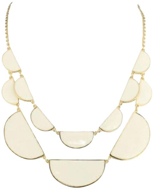 Kate Spade 12k Gold Plate & White Enamel Double Architectural Scallop Nwtreversible Beauty Necklace Kate Spade 12k Gold Plate & White Enamel Double Architectural Scallop Nwtreversible Beauty Necklace Image 1