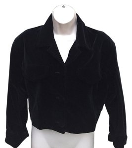 Perry Ellis Velvet Black Velvet Jacket
