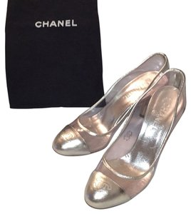 Chanel Silver/clear Pumps