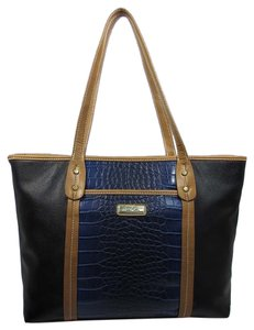 Marc Fisher Tote In Cobalt Black