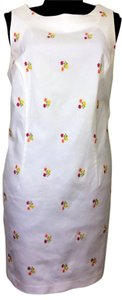 DBY Ltd. II short dress White with Floral Embroidery 22W Pencil Machine Washable on Tradesy