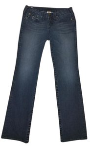 True Religion Designer Denim Stretchy Comfort Straight Leg Jeans-Dark Rinse