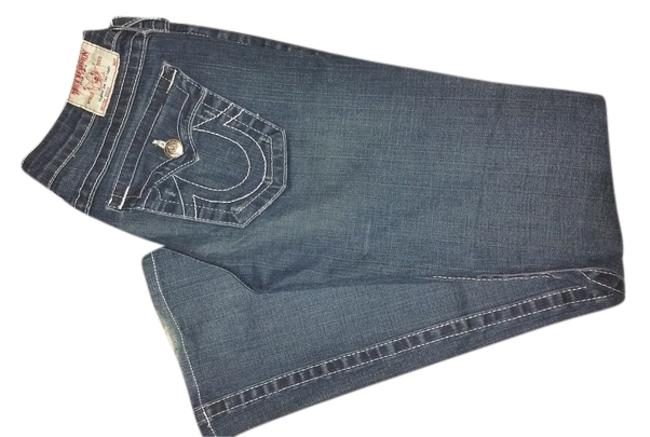 True Religion Becky Distressed Designer Stretchy Flare Leg Jeans-Distressed