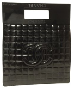 Chanel Vintage Quilted Patent Leather Baguette