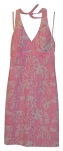 Lilly Pulitzer short dress Pink Halter on Tradesy