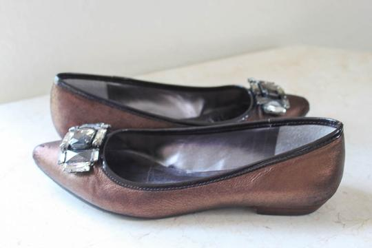 Audrey Brooke Jeweled Brown/Bronze Flats