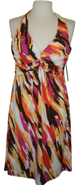 Bisou Bisou short dress MULTI Built In Bra Criss Cros Back on Tradesy