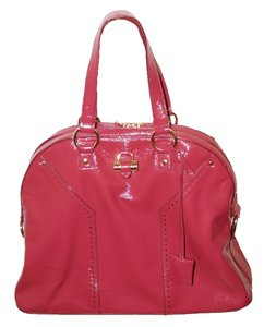 Saint Laurent Ysl Ysl Muse Ysl Muse Ysl Patent Leather Patent Leather Designer Yves Yves Muse Ysl Satchel in fushia