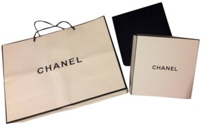Chanel Chanel black & white gift box and paper shopping bag