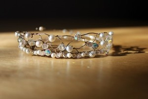 White/Sterling Silver Princessbands Inspiration Hair Pins Tiara