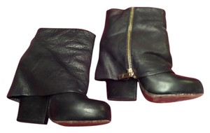 Dolce Vita Leather Foldover Black Boots