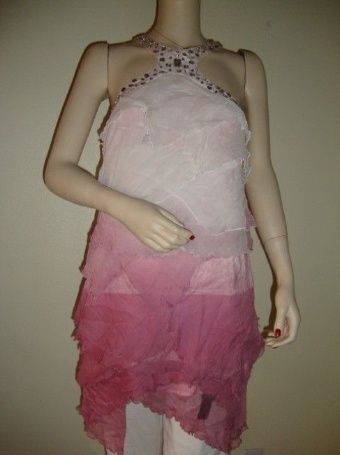 Preload https://item2.tradesy.com/images/bebe-pink-ombre-ruffle-short-night-out-dress-size-4-s-920306-0-0.jpg?width=400&height=650