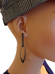 Rebecca Minkoff Gunmetal black earrings