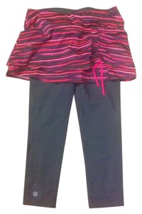 Athleta Athleta Pink And Gray Capri 2 In 1 with Skirt