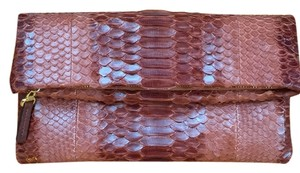 Haute Hippie Snakeskin Red Clutch