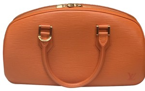 Louis Vuitton Handbag Leather Classic Vintage Classic Leather Handbags Tote in Orange
