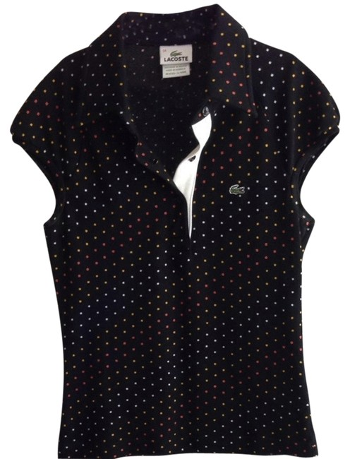 Preload https://item1.tradesy.com/images/lacoste-black-multi-color-polka-dot-polo-tee-shirt-size-2-xs-920470-0-0.jpg?width=400&height=650