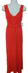 Red Maxi Dress by NY Collection Sleeveless Knot Front