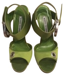 Manolo Blahnik Lime Green Sandals