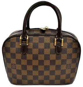 Louis Vuitton Damier Canvas Satchel in Brown