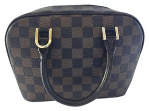 Louis Vuitton Damier Canvas Sarria Totes Satchel in Damier ebene