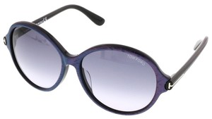 Tom Ford Tom Ford Pink/Blue Stripe Round Sunglasses