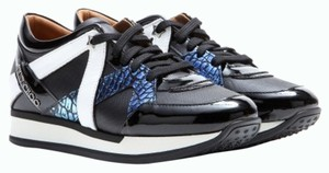 Jimmy Choo Saks Sneakers Sparkles Silver Black Athletic