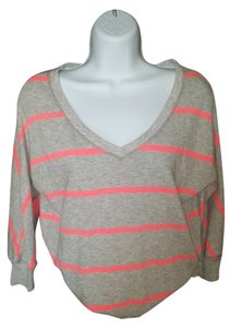 Aerie Grey V Neck Ssexy Sweatshirt