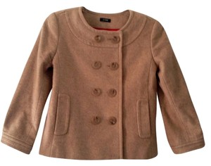 J.Crew Wool Double-breasted Cashmere Spring Fall Camel Jacket