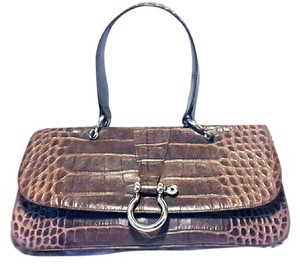 Burberry London Vintage Clutch Tote Satchel in Brown