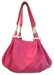 Juicy Couture Fucsia Leather Hobo Bag