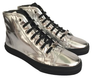 Gucci High Tops Rubber Soles Silver Athletic