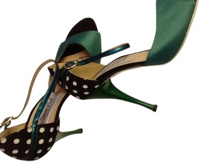 Comme il Faut Green and polka dots Pumps