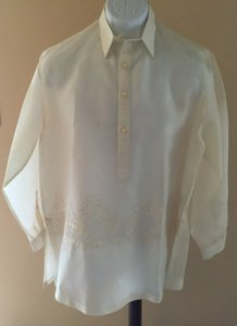 Men's Silk Jusi Barong By Barong & Formal [ Bradysplace ]