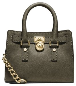 Michael Kors Dark Olive/gold Messenger Bag