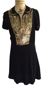 Juicy Couture Gold Sequence Peter Pan Collar Dress