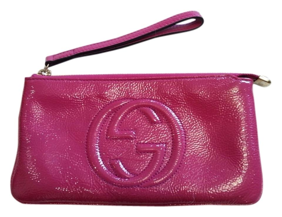 d8d981d176ef Gucci Soho Soft Wrist Wallet Fuchsia Patent Leather Wristlet - Tradesy