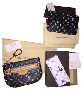 Louis Vuitton Louis Vuitton Multicolor Noir Cles Coin Key Pouch PM Bag